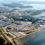 Panoramic view of AzkoNobel Site in Stenungsund